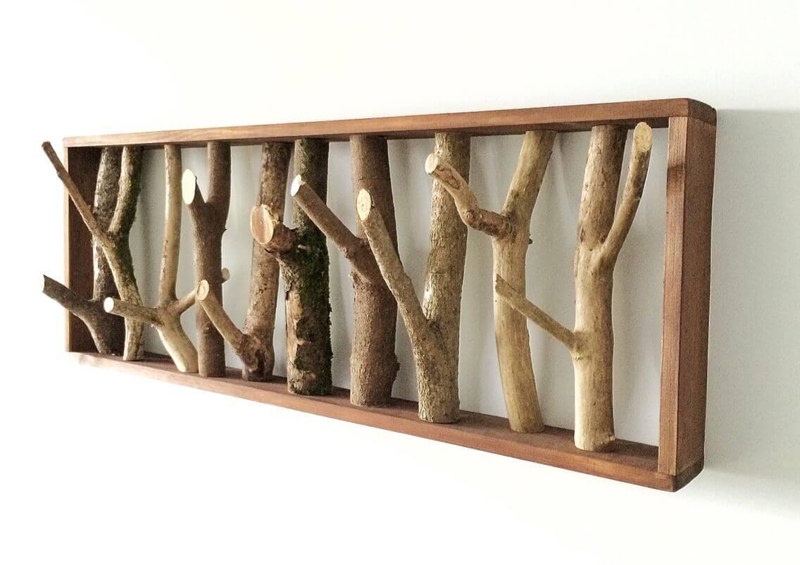 جا لباسی دیواری چوبی