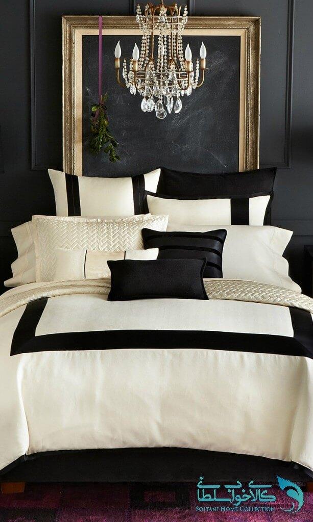 اتاق خواب سیاه سفید