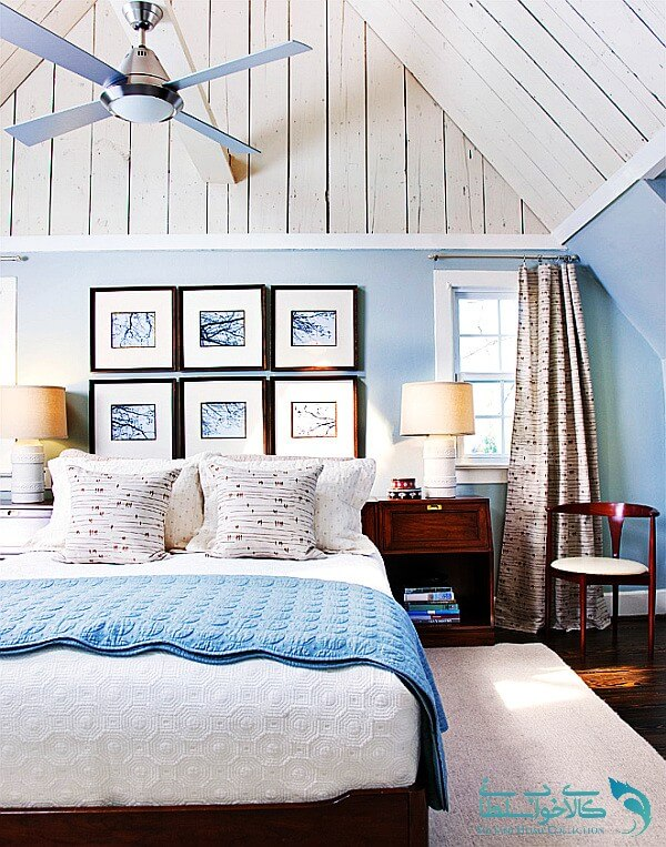 اتاق خواب ابی سفید