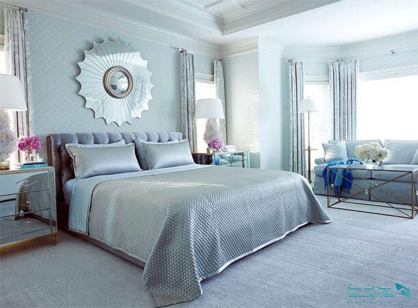 اتاق خواب نقره ای ابی