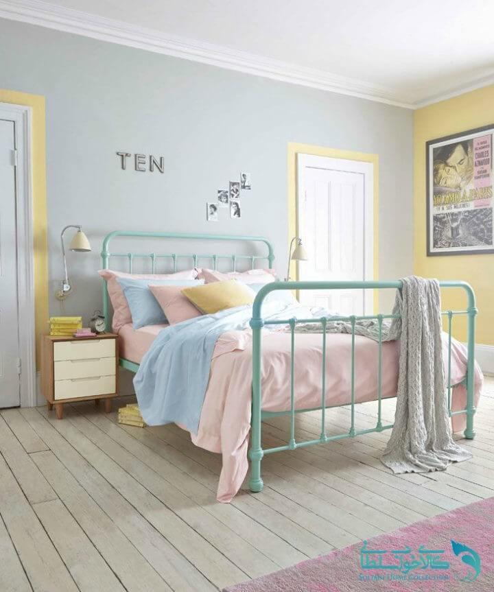 اتاق خواب رنگ های پاستلی