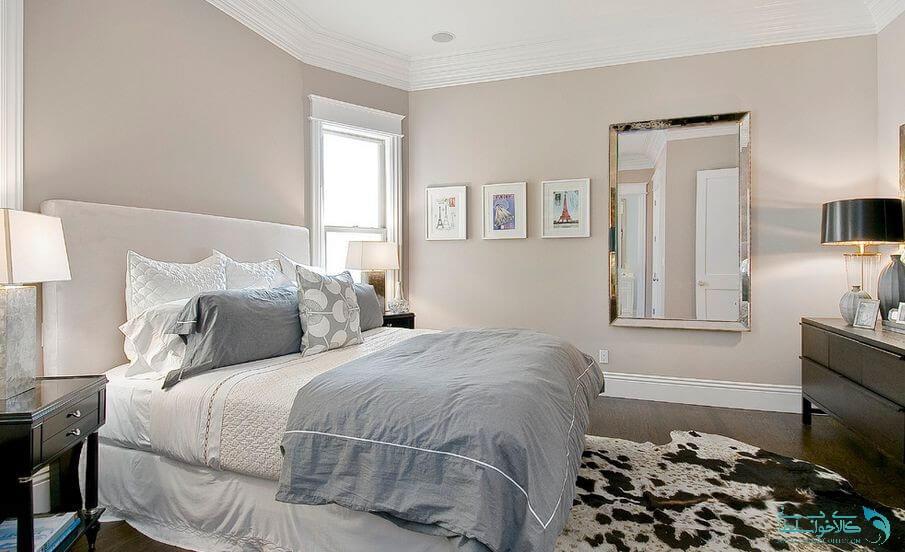 اتاق خواب طوسی سفید
